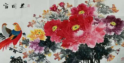 """国家一级美术师""""牡丹仙子""""王菊浓老师现场笔会在京举办"""