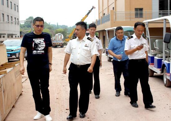 荣昌区领导及永川海关莅临渝西国际 项目保税仓呈现在即